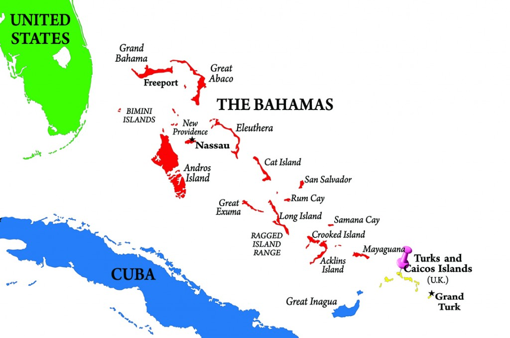 Map Providenciales, Turks and Caicos Islands