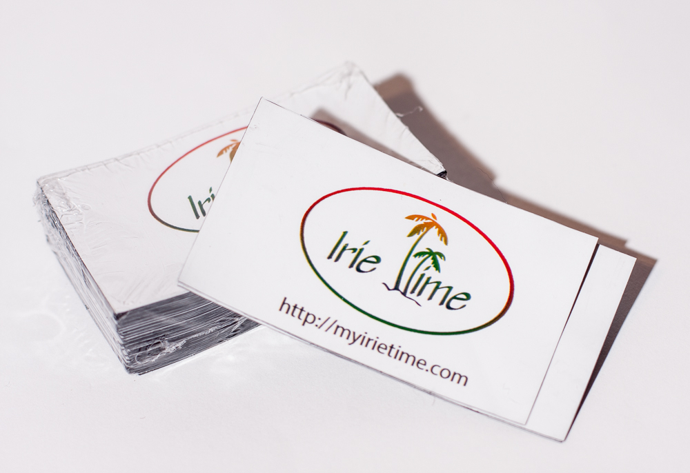 My Irie Time Magnetic Business Cards