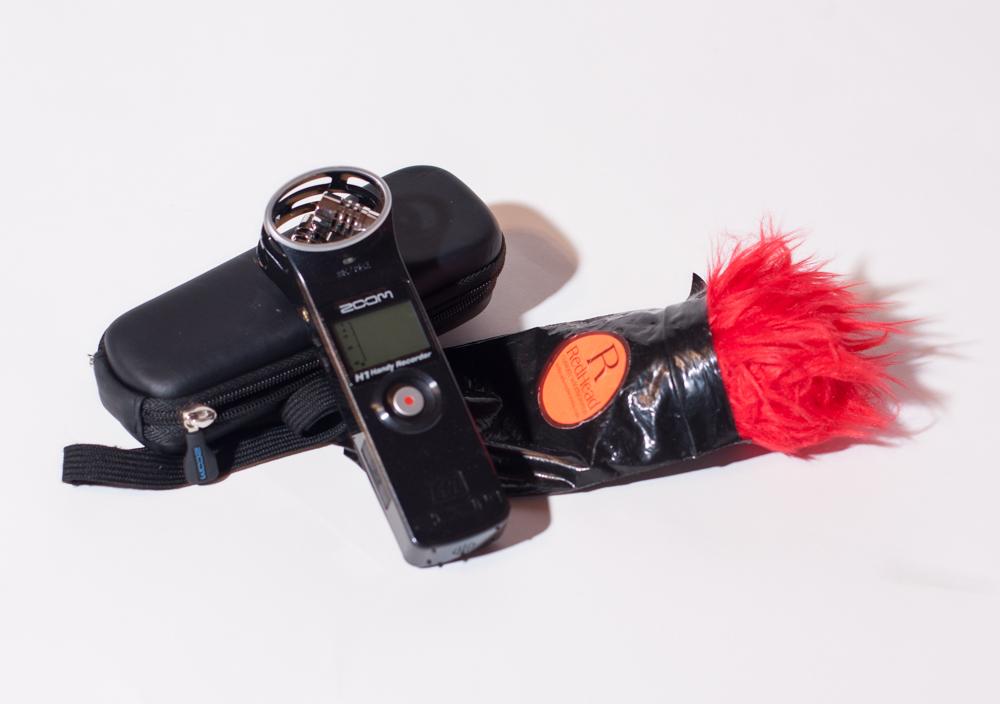 Zoom H1 and Redhead Windscreen