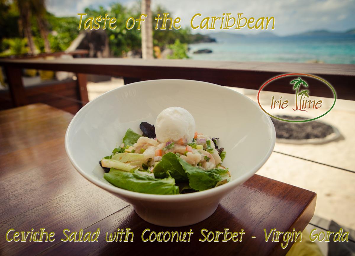 Ceviche Salad Coconut Sorbet Virgin Gorda BVI