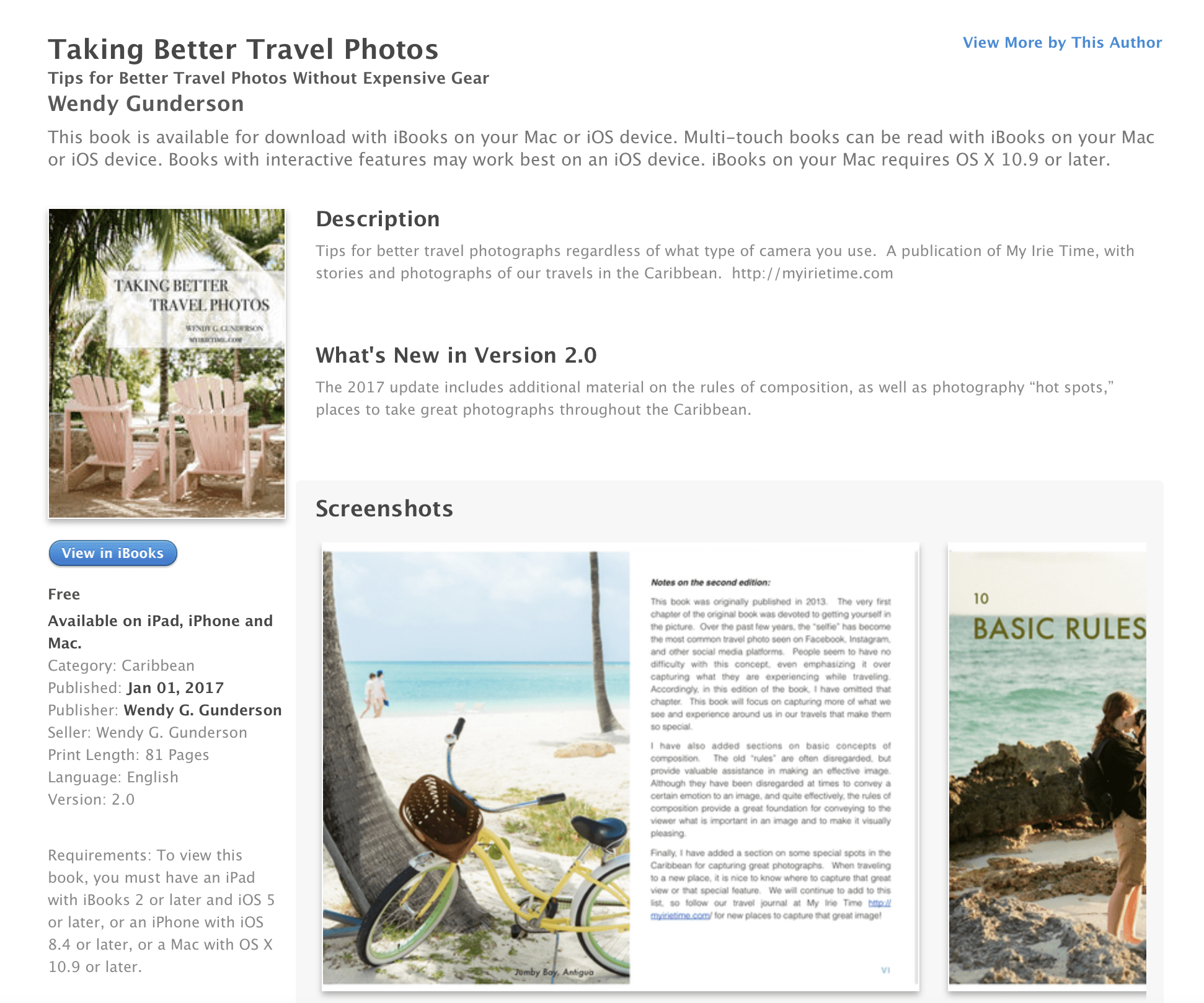 Taking Better Travel Photos iBook